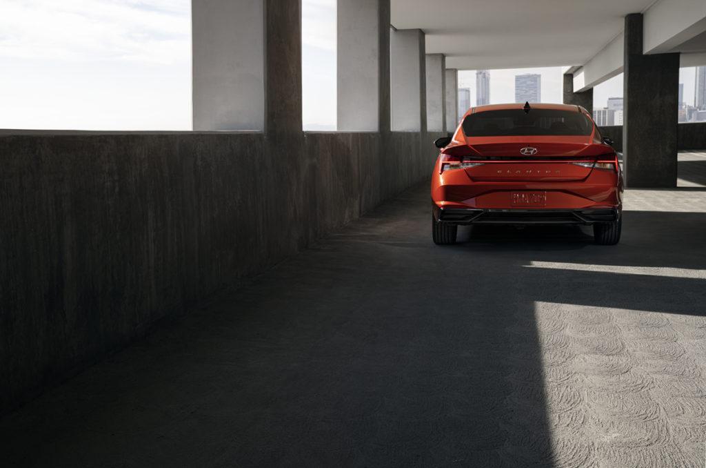 2021 Hyundai Elantra in Lava Orange